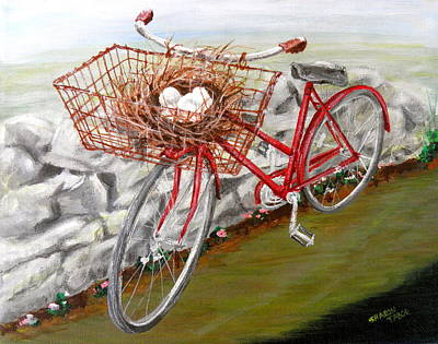 Painting - Eggs In A Basket by Sharon Tabor