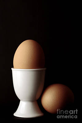 Eggs In Egg Cup Art Print