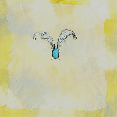 Abstract Airplane Art Rights Managed Images - Eggs with Wings - yellow Royalty-Free Image by Will Felix