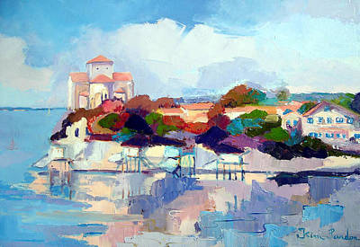 Charente Maritime Painting - Eglise De Talmont by Kim PARDON