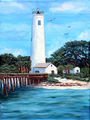 Painting - Egmont Key Lighthouse by Fran Brooks