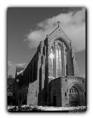 Photograph - Egner Memorial Chapel Border Bw by Jacqueline M Lewis