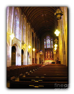 Photograph - Egner Memorial Chapel Interior - Border by Jacqueline M Lewis