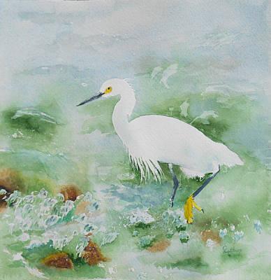 Egret 2 Art Print by Christine Lathrop