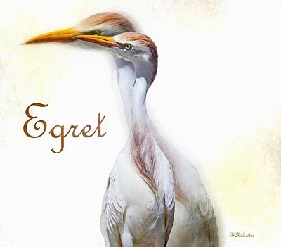 Serenity Scenes Painting - Egret by Barbara Chichester