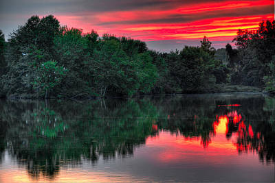 Photograph - Egret Cove Sunset by William Jobes