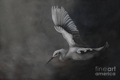 Egret In Flight Original
