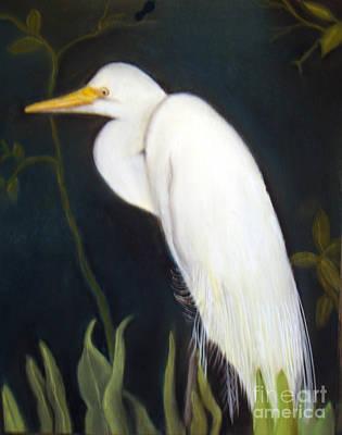 Painting - Egret by Lamarr Kramer
