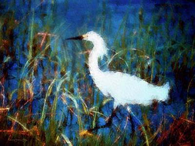 Painting - Egret  by Patrick J Osborne