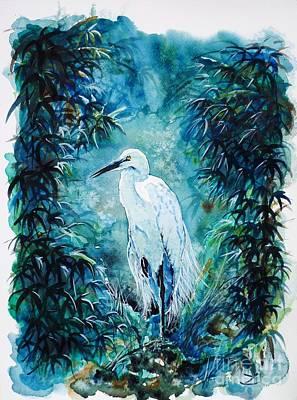 Painting - Egret by Zaira Dzhaubaeva