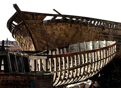 Photograph - Egypt - Alexandria - Boat Construction by Jacqueline M Lewis
