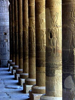 Photograph - Egypt - Columns by Jacqueline M Lewis