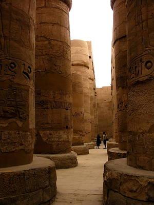 Photograph - Egypt - Karnak Collosus by Jacqueline M Lewis