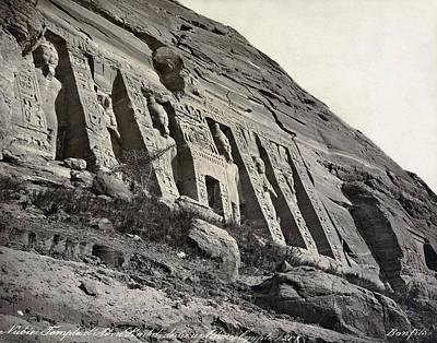 Hathor Photograph - Egypt Abu Simbel Temple by Granger