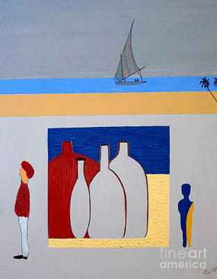 Art Print featuring the painting Egypt Afternoon by Bill OConnor