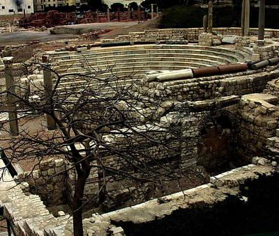 Photograph - Egypt - Alexandria Excavation by Jacqueline M Lewis