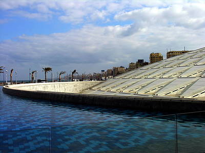 Photograph - Egypt - Alexandria - Library by Jacqueline M Lewis