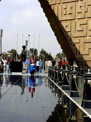 Photograph - Egypt - Alexandria - Sadat Monument by Jacqueline M Lewis