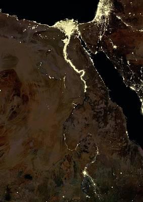 Jordan Photograph - Egypt At Night by Planetobserver