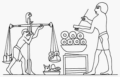 Scribe Painting - Egypt Balance, C2000 B by Granger