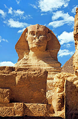 Archaeological Photograph - Egypt, Cairo, Giza, The Sphinx by Miva Stock