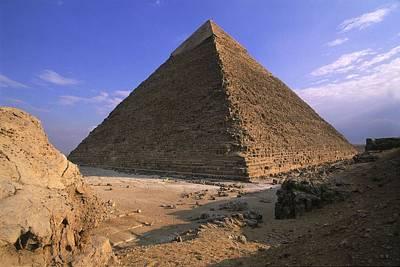 Egyptian Art Photograph - Egypt. Giza. Giza. Khafres Pyramid by Everett