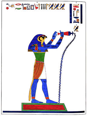 Drawing - Egypt Horus, 1823 by Granger