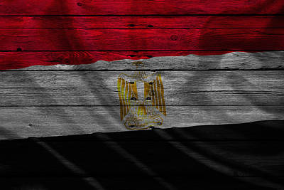 Flag Pole Photograph - Egypt by Joe Hamilton