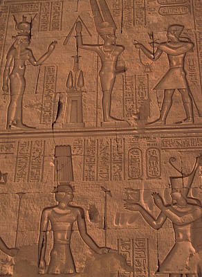 Reliefs Photograph - Egypt, Kom Ombo Stone Relief Work by Jaynes Gallery
