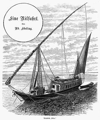 Egypt Nile Cruise, 1880s Art Print by Granger