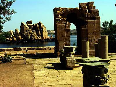 Photograph - Egypt - Philae Complex - Aswan by Jacqueline M Lewis