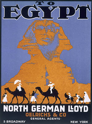 Drawing - Egypt, Poster Advertising Norddeutscher by English School