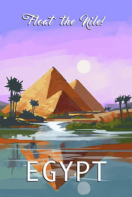 Signed Poster Painting - Egypt by P.s