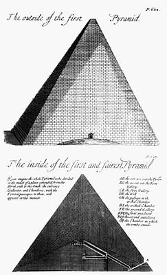 Photograph - Egypt: Pyramid Diagram by Granger