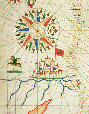 Egypt Drawing - Egypt, The River Nile And Cairo, From A Nautical Atlas, 1646 Ink On Vellum  by Italian School
