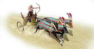 Egyptian Chariot Art Print by Jose Antonio Pe�as