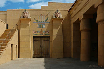 Egyptian Courtyard Art Print by Bill Jonas