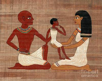 Painting - Egyptian Family by Pet Serrano