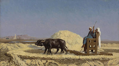 Jean-leon Gerome Painting - Egyptian Grain-cutters by Jean-Leon Gerome