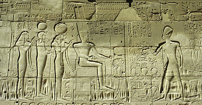 Thoth Photograph - Egyptian Hieroglyphs On The Wall by Panoramic Images