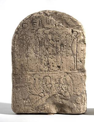 Stela Photograph - Egyptian Limestone Stele by Science Photo Library