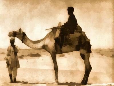 Hump Painting - Egyptian Man And Camel by Dan Sproul