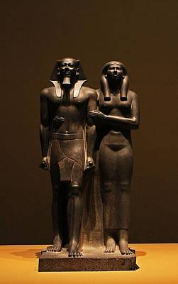 Photograph - Egyptian Pharaoh And Queen At Mfa by Michael Saunders