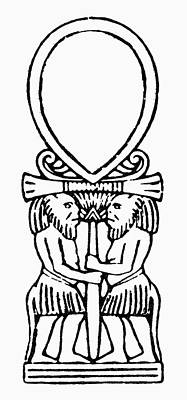 Ankh Drawing - Egyptian Symbol Ankh by Granger
