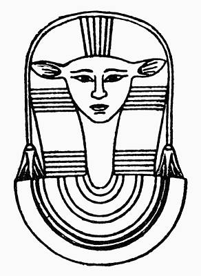 Hathor Drawing - Egyptian Symbol Hathor by Granger