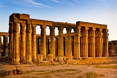 Photograph - Egyptian Temple Ruins In Luxor by Mark E Tisdale