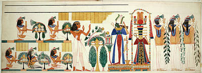 Thebes Photograph - Egyptian Tomb Wall-painting by British Library