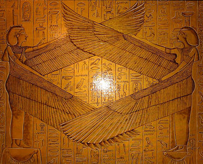 Jimerson Painting - Egyptian Winged Goddesses by Annette Jimerson