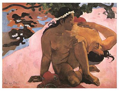 Eh Quoi Es-tu Jalouse Art Print by Paul Gauguin