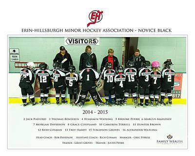 Minor Hockey Photograph - Ehmha Novice Black by Rob Andrus